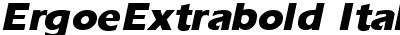 ErgoeExtrabold Italic