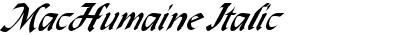 MacHumaine Italic