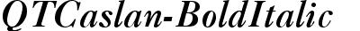 QTCaslan Bold Italic