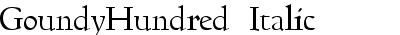 GoundyHundred Italic