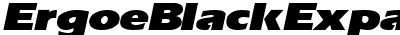 ErgoeBlackExpanded Italic