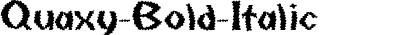 Quaxy Bold Italic