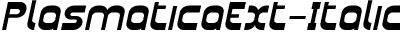 PlasmaticaExt-Italic
