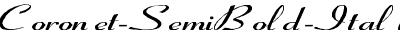 Coronet-SemiBold-ItalicEx