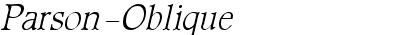 Parson-Oblique