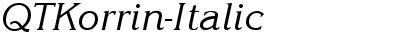 QTKorrin Italic