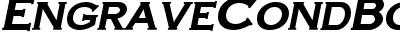 EngraveCondBold-Italic