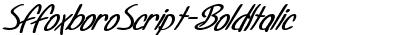 SFFoxboroScript-BoldItali...