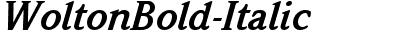 WoltonBold-Italic