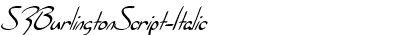 SFBurlingtonScript-Italic