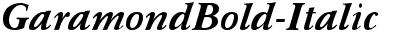 GaramondBold-Italic