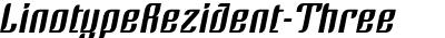LinotypeRezident-Three