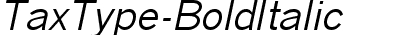 TaxType-BoldItalic
