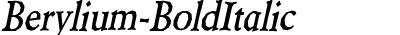 Berylium-BoldItalic