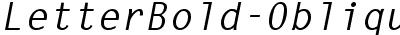 LetterBold-Oblique