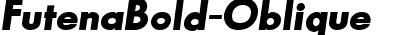 FutenaBold-Oblique
