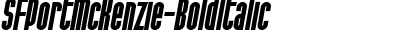 SFPortMcKenzie-BoldItalic
