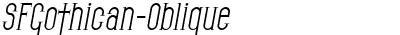 SFGothican-Oblique