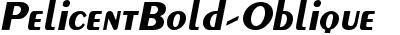 PelicentBold-Oblique