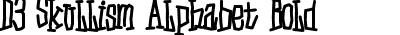D3 Skullism Alphabet Bold