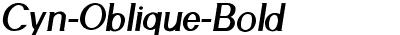 Cyn-Oblique-Bold