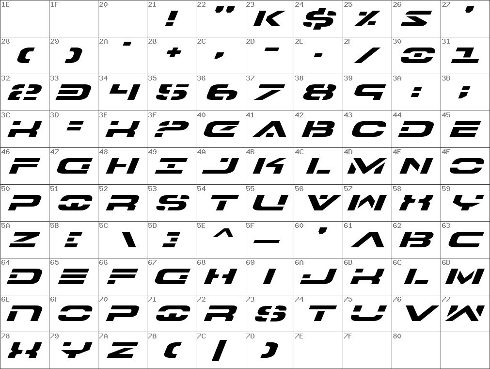 7th Service Expanded Italic