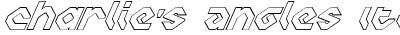 Charlie's Angles Italic O...