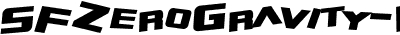 SFZeroGravity-BoldItalic