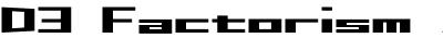D3 Factorism Alphabet