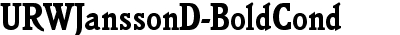 URWJanssonD-BoldCond
