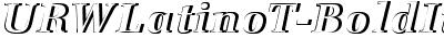 URWLatinoT-BoldItalRe1