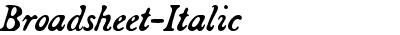 Broadsheet-Italic