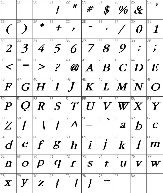 Garamond Bold Italic