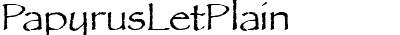 PapyrusLetPlain