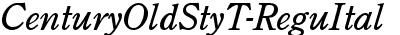 CenturyOldStyT-ReguItal