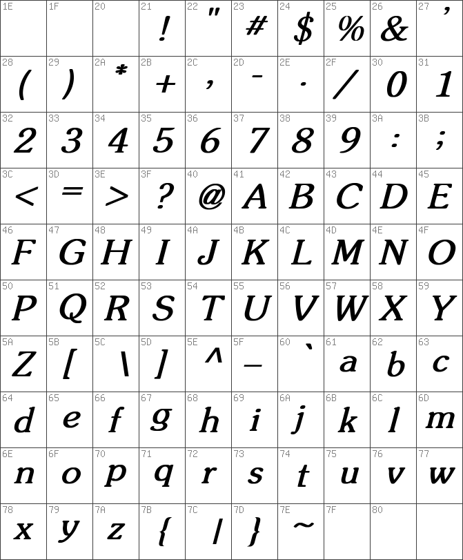 Souvenir Bold Italic