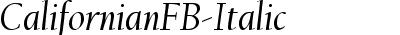 CalifornianFB-Italic