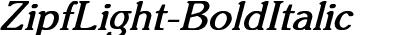 ZipfLight-BoldItalic