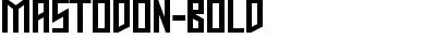 Mastodon Bold