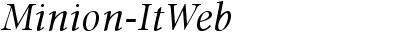 Minion Web Italic