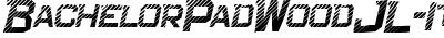 Bachelor Pad Wood JL Italic
