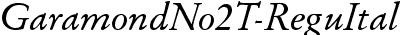 GaramondNo2TReg Italic