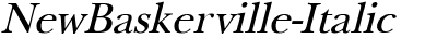 NewBaskerville Italic