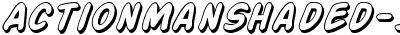 ActionManShaded-Italic