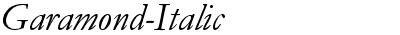 Garamond-Italic