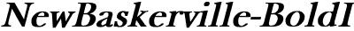 NewBaskerville Bold Italic