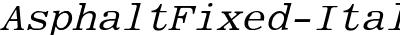 Asphalt Fixed Italic