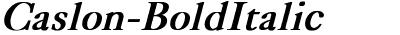 Caslon-BoldItalic