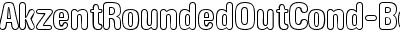 AkzentRoundedOutCond-Bold DB