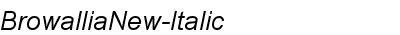 Browallia New Italic